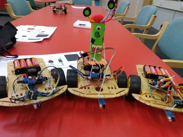 A summer of Robot building at the library